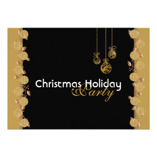 Christmas holiday party tree decorations red gold custom announcements