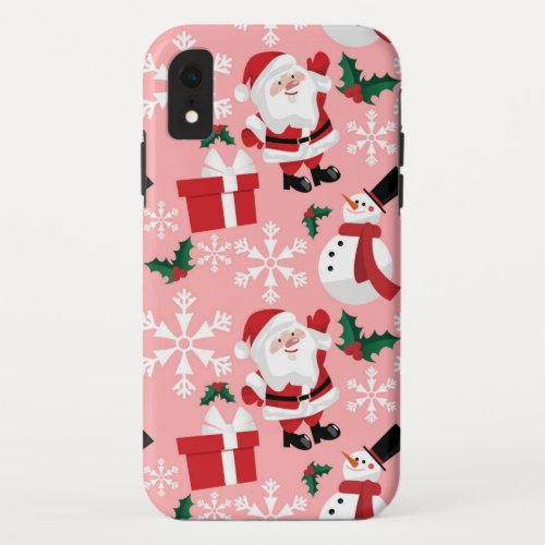 Christmas Holiday Pattern iPhone XR Case