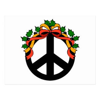 Christmas Holiday Peace Postcard