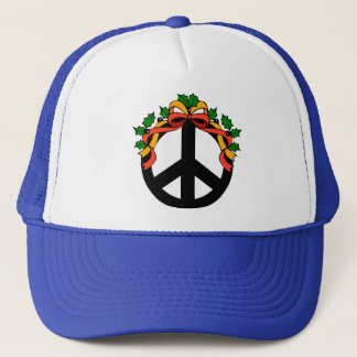 Christmas Holiday Peace Trucker Hat