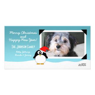 Christmas Holiday Penguin Photo Card