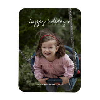 Christmas Holiday Personalized Photo Kids Picture Magnet