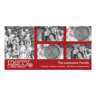 Christmas Holiday Photo Card: 5 photo collage Photo Card
