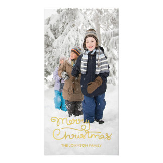 Christmas Holiday Photo Card | Hand Lettered