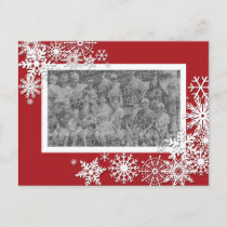 Christmas Holiday Photo Card with Snowflakes
