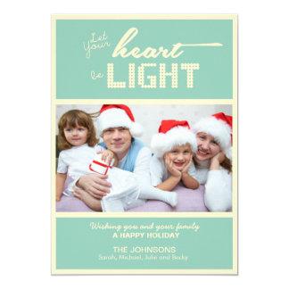 "Christmas Holiday Photo Cards 5"" X 7"" Invitation Card"