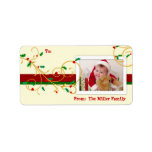 Christmas Holiday PHOTO Gift Tag Labels Custom Address Labels