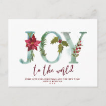christmas holiday photo postcard joy to the world