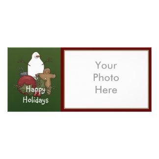 Christmas Holiday photo rack cards