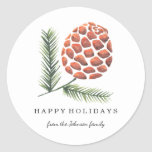 """Christmas Holiday   Pine Cone Tree   Sticker<br><div class=""""desc"""">Cartita design &#169;2016 All Rights Reserved Feel free to change or add text!  I Hope you enjoy my illustrations!  Look also for matching products in my store!</div>"""