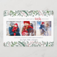 Christmas Holiday | Pine Tree | 3 Photos Card