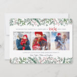 """Christmas Holiday   Pine Tree   3 Photos Card<br><div class=""""desc"""">Cartita design ©2016 All Rights Reserved Feel free to change or add text!  I Hope you enjoy my illustrations!  Look also for matching products in my store!</div>"""