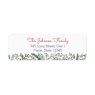 Christmas Holiday   Pine Tree   Address Labels