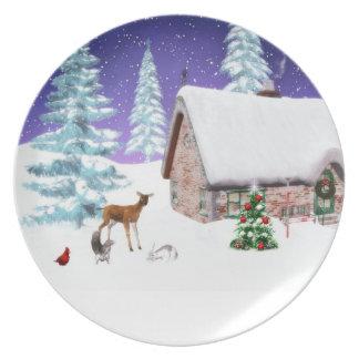 Christmas Holiday Plate
