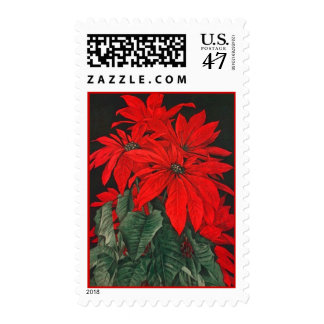 CHRISTMAS HOLIDAY POINSETTIA FLOWER STAMPS HOLIDAY
