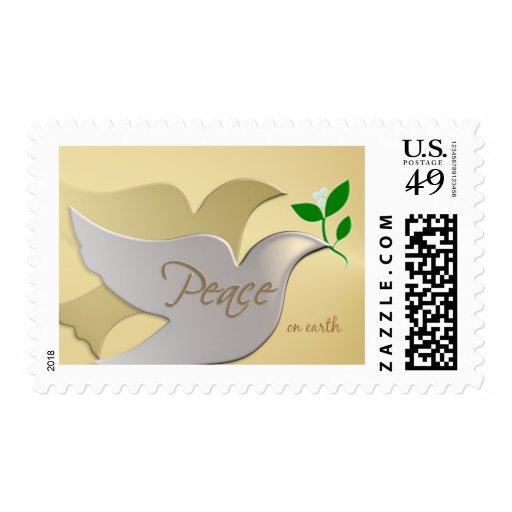 Christmas Holiday Postage  - Peace on Earth Dove