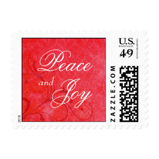 Christmas Holiday Postage Stamps with Custom Text Postage Stamp