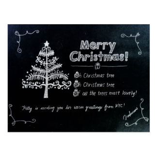 Christmas holiday postcard from NYC