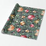 """Christmas Holiday - Pretty Watercolor Lights Wrapping Paper<br><div class=""""desc"""">Christmas Holiday - Pretty Watercolor Lights Ornaments & Greens  - Wrapping Paper - Coordinating Gift Wrapping Essentials are available in our Store</div>"""