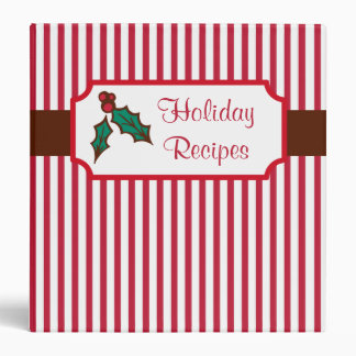 Christmas Holiday Recipe Binder