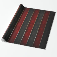 Christmas Holiday - Red/Black with Snowflakes Wrapping Paper