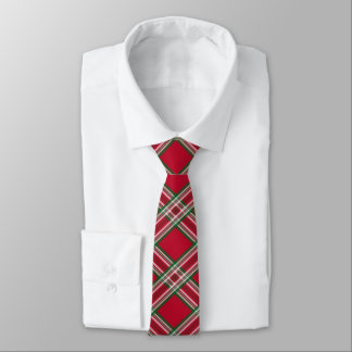 Christmas Holiday Red Plaid Tie