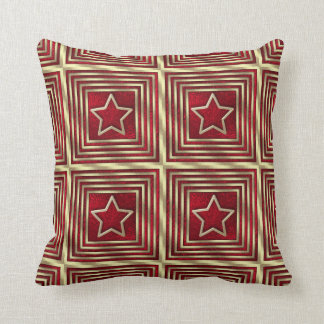 Christmas Holiday Red Star Throw Pillow