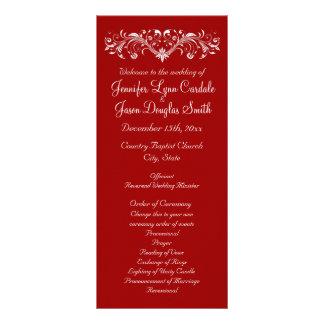 Christmas Holiday Red Wedding Programs