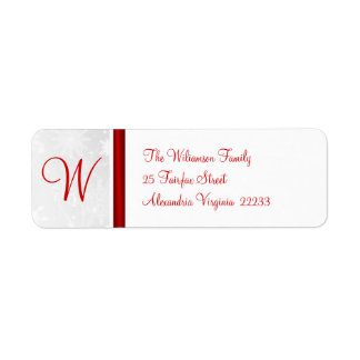 Christmas Holiday - Return Address Labels