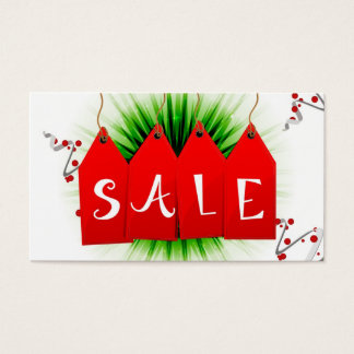 Christmas Holiday Sale Coupon Cards Gift Tags