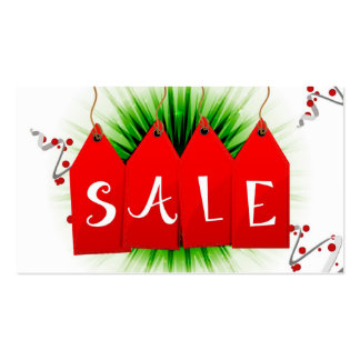 Christmas Holiday Sale Coupon Cards Gift Tags Business Card