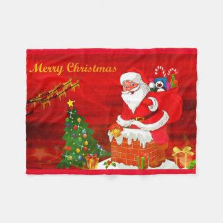 Christmas Holiday Santa Cartoon Fleece blanket