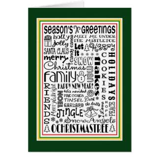 Christmas Holiday Season Fun Word Art Greeting Card