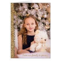 Christmas Holiday Season's Greetings Gold Glitter