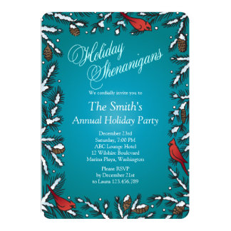 Christmas Holiday Shenanigans Party Card