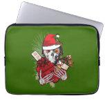 Christmas Holiday Skull Laptop Computer Sleeve