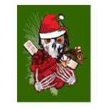 Christmas Holiday Skull Postcard