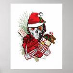 Christmas Holiday Skull Posters