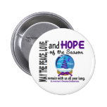 Christmas Holiday Snow Globe 1 Alzheimer's Disease Pin