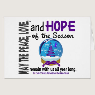 Christmas Holiday Snow Globe 1 Alzheimer's Disease Card