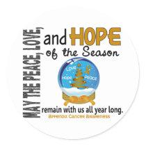 Christmas Holiday Snow Globe 1 Appendix Cancer Classic Round Sticker
