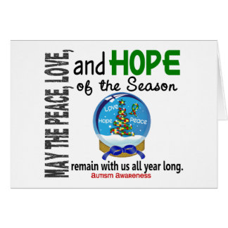 Christmas Holiday Snow Globe 1 Autism Card