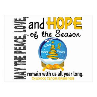 Christmas Holiday Snow Globe 1 Childhood Cancer Post Card