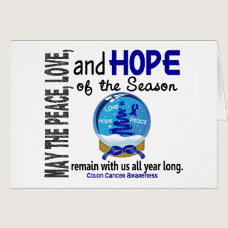 Christmas Holiday Snow Globe 1 Colon Cancer Card