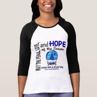 Christmas Holiday Snow Globe 1 Colon Cancer Shirts