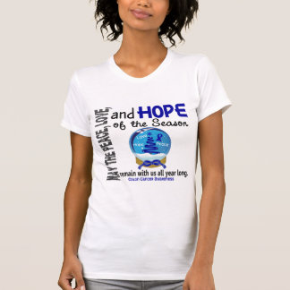 Christmas Holiday Snow Globe 1 Colon Cancer T-shirts