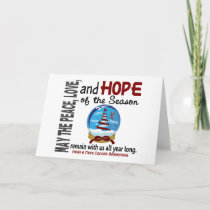 Christmas Holiday Snow Globe 1 Head & Neck Cancer
