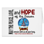 Christmas Holiday Snow Globe 1 Head & Neck Cancer Greeting Card