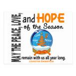 Christmas Holiday Snow Globe 1 Leukemia Postcard