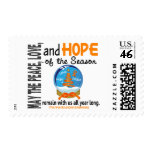 Christmas Holiday Snow Globe 1 Multiple Sclerosis Stamp